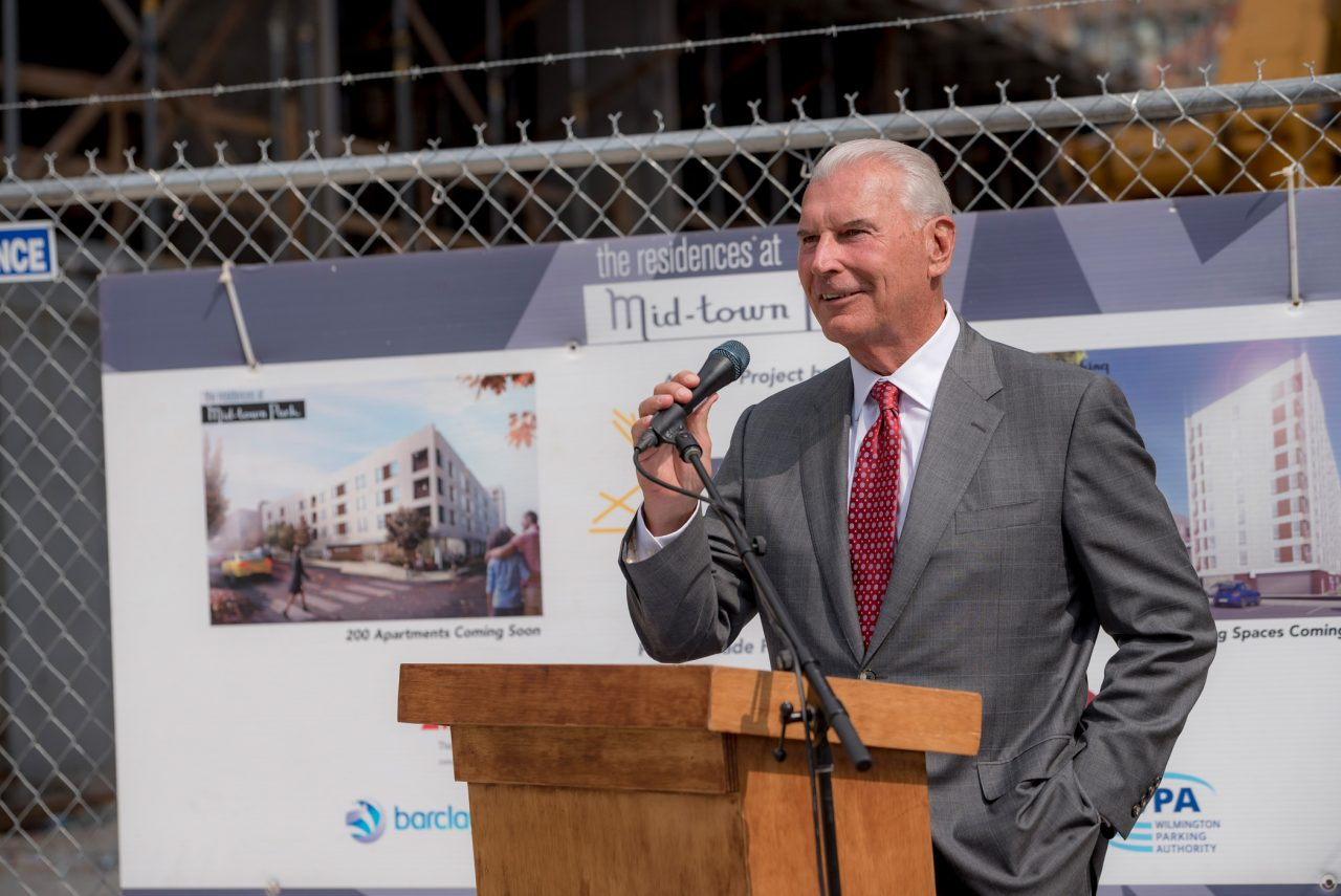 The Residences at Mid-town Park Topping out