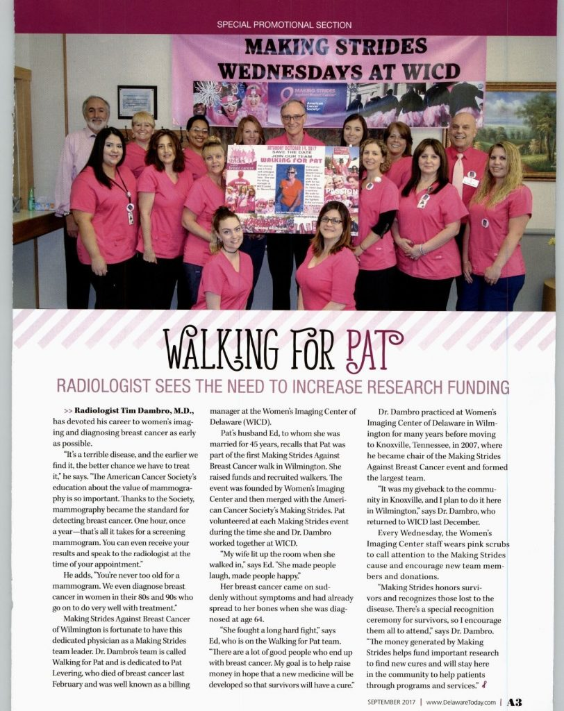 article walking for pat