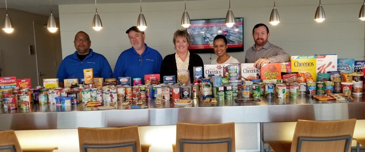 residebpg food drive The Residences at Christina Landing