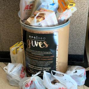 BPG Thanksgiving Food Drive Donations