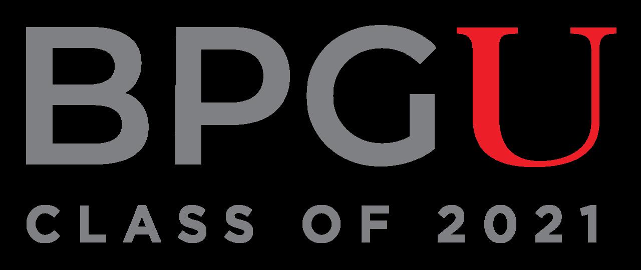 BPG U 2-color logo class of 2021