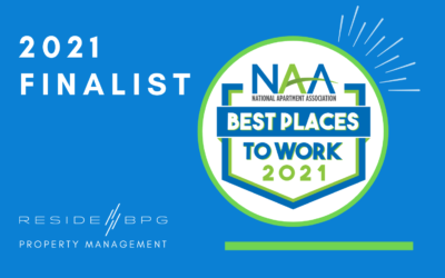 ResideBPG name finalist 2021 NAA Best Places to Work Awards