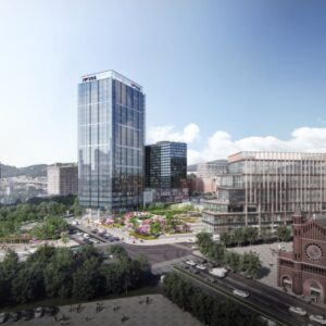 Rendering of FNB Financial Center in Pittsburgh Lower Hill district